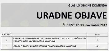 Uradne objave 10/2017
