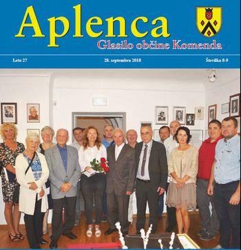 Aplenca – Glasilo občine Komenda 08-09/2018