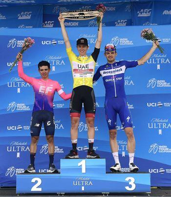 Mladi Tadej Pogačar - zmagovalec kolesarske dirke po Kaliforniji