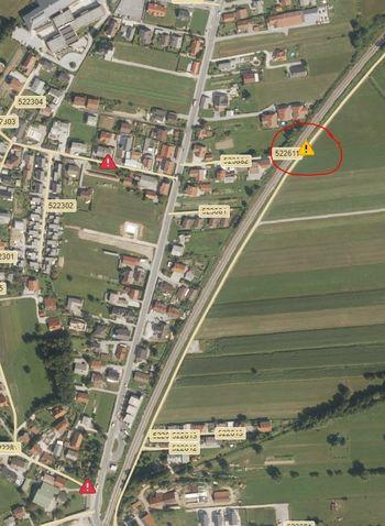 Obvestilo - popolna zapora ceste - Vnanje Gorice ob železnici proti hangarju