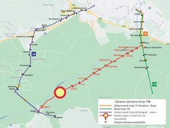 Obvestilo - spremembe voznega reda LPP zaradi zapore na cesti skozi Črno vas