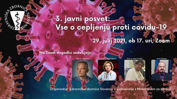 3. javni posvet: Vse o cepljenju proti covidu-19 (o varnosti in učinkovitosti cepiv)