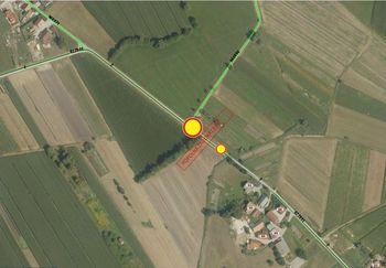 Popolna zapora lokalne ceste Notranje Gorice - Log v kraju Podplešivca