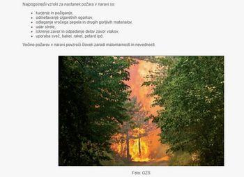 OBVESTILO: Velika požarna ogroženost naravnega okolja od 25. februarja 2019