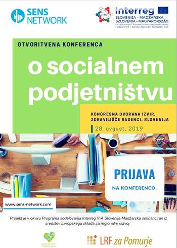Konferenco na temo socialnega podjetništva v okviru čezmejnega projekta SENS NETWORK