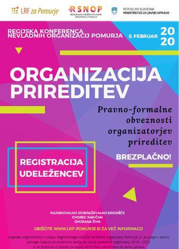 REGIJSKA KONFERENCA NEVLADNIH ORGANIZACIJ POMURJA - Organizacija prireditev