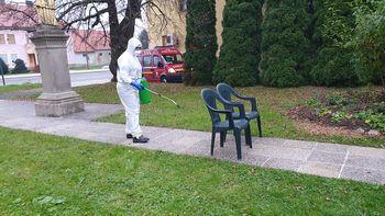 PGD Stara Nova vas je razkuževalo Bivalno enoto varovancev v Križevcih