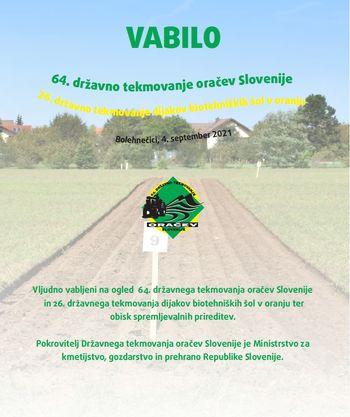 64. državno tekmovanje oračev Slovenije