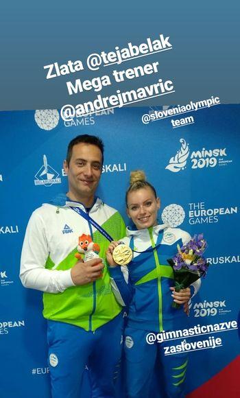 Teja Belak v Minsku do uspeha kariere: Zlata nisem pričakovala