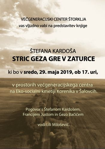 Predstavitev knjige Štefana Kardoša: STRIC GEZA GRE V ZATURCE