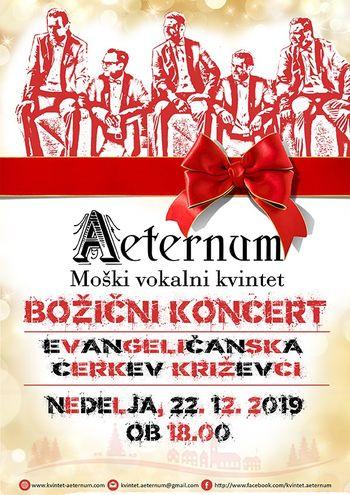Koncert moškega vokalnega kvinteta Aeternum