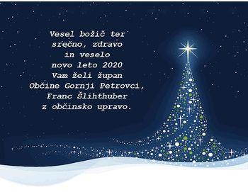 VESEL BOŽIČ IN SREČNO NOVO LETO 2020!