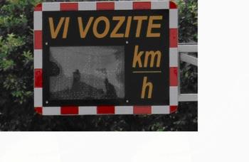 Obvestilo o izvajanju meritev najvišje dovoljene hitrosti