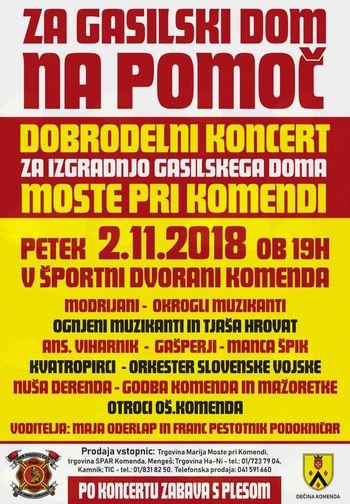 Dobrodelni koncert Za nov gasilski dom NA POMOČ