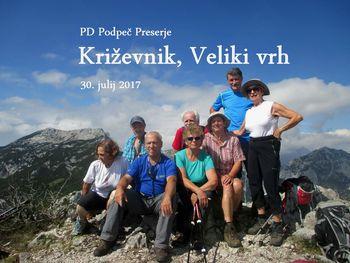PD Podpeč Preserje na Križevniku in Velikem vrhu  30. 7. 2017