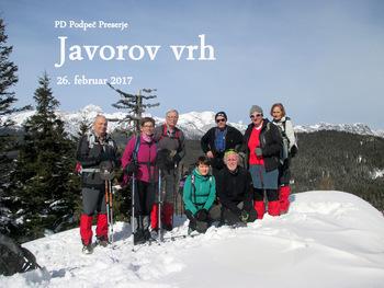 FOTOREPORTAŽA : Izlet PD Podpeč Preserje na Javorov vrh   26.2.2017