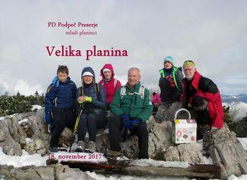 FOTOREPORTAŽA : Mladi planinci PD Podpeč Preserje na Veliki planini 18.11.2017
