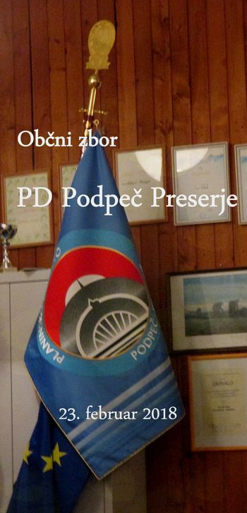 FOTOREPORTAŽA: Občni zbor PD Podpeč - Preserje 23. 2.2018