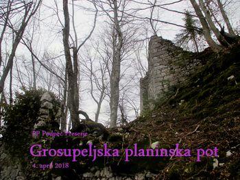 FOTOREPORTAŽA : PD Podpeč Preserje na Grosupeljski poti  4.4.2018