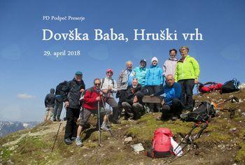 FOTOREPORTAŽA : PD na Dovški Babi  29.4.2018