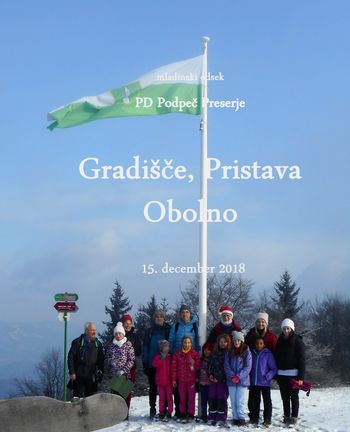 FOTOREPORTAŽA : Mladi planinci PD Podpeč Preserje na poti od Gradišča do Obolna 15.12.2018