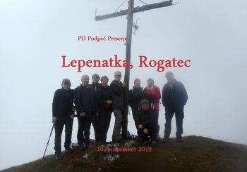 Fotoreportaža: PD na Lepenatki in Rogatcu 10. 11. 2019