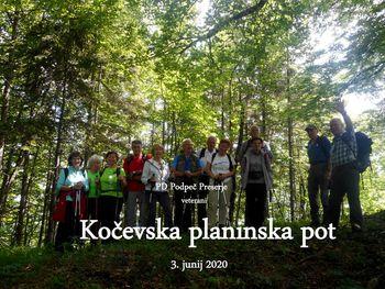Fotoreportaža : Veterani PD na Kočevski planinski poti 3.6.2020