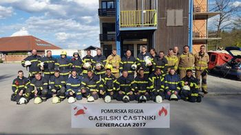 Prva generacija gasilskih častnikov v pomurju po novem načinu izobraževanja!