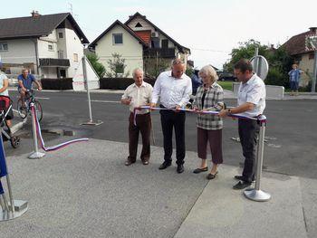 Na otvoritvi na Grobeljski cesti zahvala občanom in županu