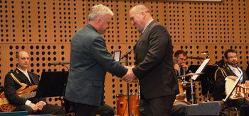 Na Dan civilne zaščite je župan Občine Mengeš, Franc Jerič, prejel bronasti znak Civilne zaščite