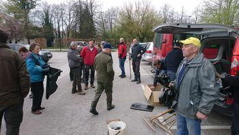 Tradicionalna čistilna akcija se je zaključila s skupinsko čistilno akcijo prvo soboto v aprilu