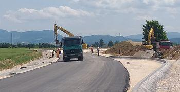 Dela na obvoznici pospešeno napredujejo in bodo končana pred rokom