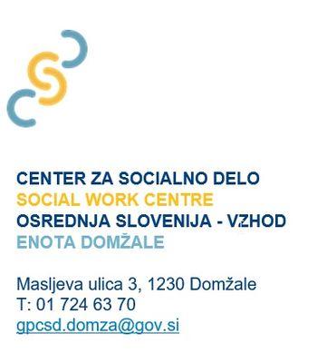 Na Centru za socialno delo Osrednja Slovenija vzhod, enota Domžale obvešča
