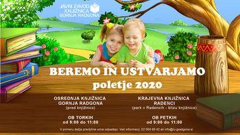 Ure pravljic - BEREMO IN USTVARJAMO - poletje 2020