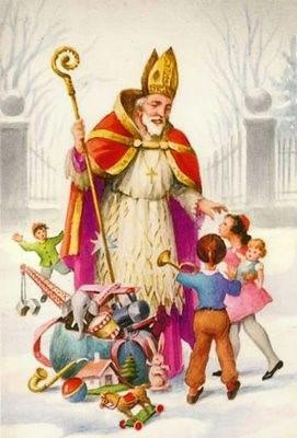 Srečanje Svetega Miklavža z otroki v župnijski cerkvi na Vranskem