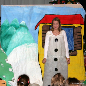 Snežak korenjak v CIRIUS-u Vipava