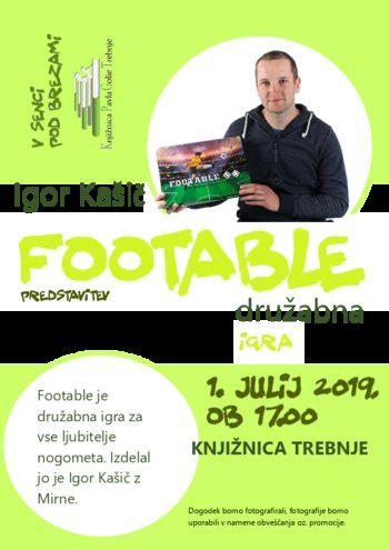 FOOTABLE - predstavitev družabne igre Igorja Kašiča