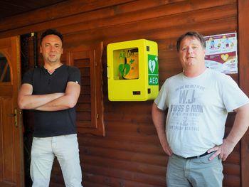 V Rafolčah imamo med prvimi  v občini Lukovica AE defibrilator