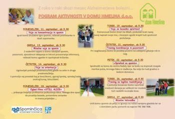 Mesec Alzheimerjeve bolezni v Domu Hmelina