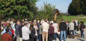 Ižancovo znamenje v Vnanjih Goricah, na Novi poti