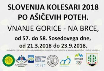 SLO kolesari 2018 tudi po Ašičevih poteh Ljubljanskega barja in sicer od 57. do 58. Sosedovega dne.