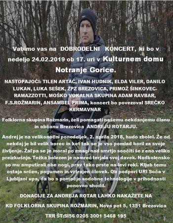Dobrodelni koncert FS Rožmarin z gosti
