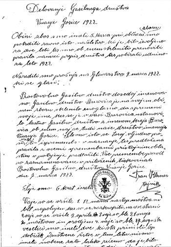 Tudi v Občini Log - Dragomer obstaja organizirano gasilstvo že 122 let!