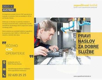 PROSTO DELOVNO MESTO CNC - OPERATER (AUT)