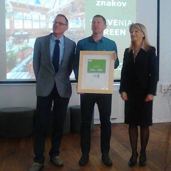 Srebrni znak Slovenia Green tudi za Roglo-Zreče