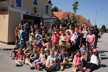 Mladi gasilci v taboru GZ Gorišnica