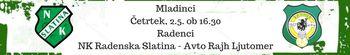 NK Radenska Slatina - Avto Rajh Ljutomer (mladinci)