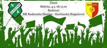 NK Radenska Slatina - Goričanka Rogašovci (člani)