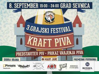 Graščakova hči vabi na 3. Grajski festival KRAFT piva