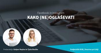 Facebook in Instagram: KAKO (NE)OGLAŠEVATI